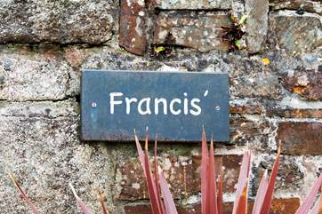 Francis' name plate.