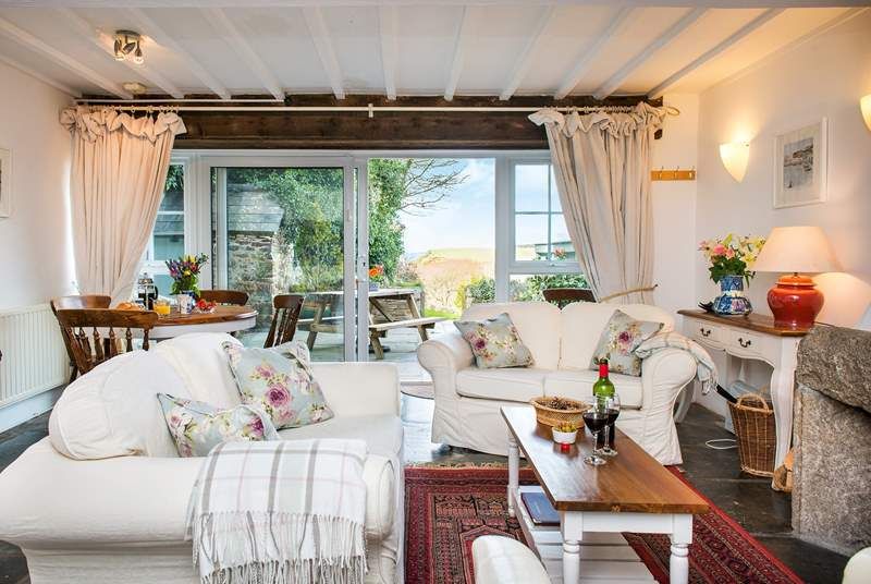 The cottage is very comfortable and boasts sea views and an enclosed garden..