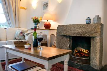 After a wonderful day exploring the delights of the area, you can come back and curl up in front of the open fire.