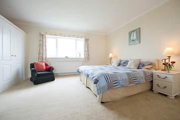 Bedroom 3 has sea views.