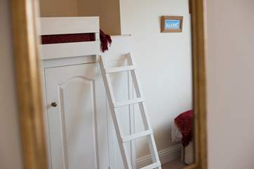The captain's bunk is accessed via a ladder so not suitable for younger children.