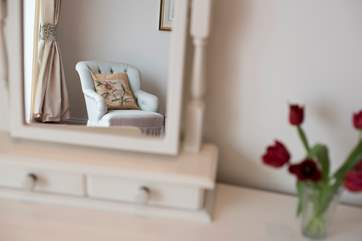 Pretty armchairs in Bedroom 2  for sitting and admiring the view.