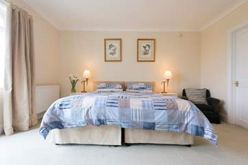 Bedroom 1 has 'zip-and-link' beds which can be a super-king size double or two single beds.