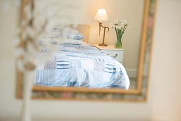 Pretty bed linen.