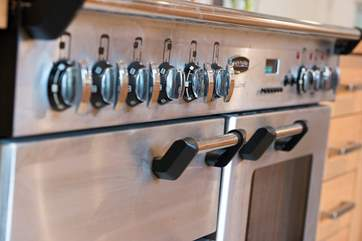 A big range cooker to cater for family meals.