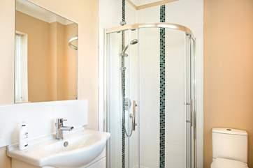 The en-suite shower room in bedroom 3