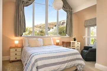Bedroom 4 has a comfy bed and an en-suite shower room