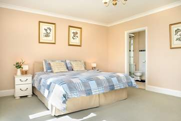 Bedroom one on the ground floor can be made up as a Super King size bed or twin beds