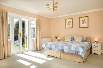 This lovely room has patio doors out to the garden