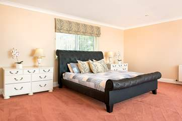 Bedroom Two is huge and has a Super king size bed, dressing area and an en-suite bathroom