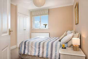Bedroom 6 has a double bed and of course wonderful views
