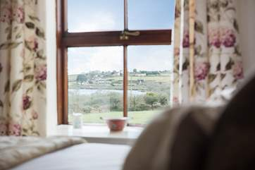 Both bedrooms have wonderful countryside views towards the reservoir.