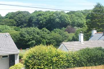The view from the double bedroom, the cottage is perfectly located for exploring both north and south coasts.