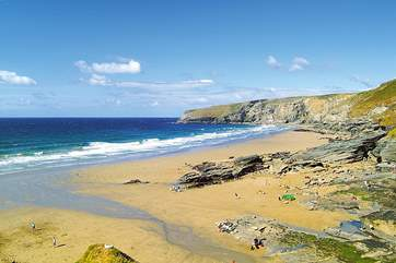 Trebarwith strand is a short drive away.