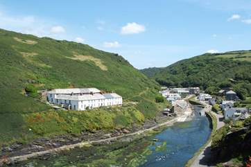 A view towards the village of Boscastle. .