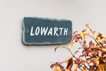 Lowarth's house sign.