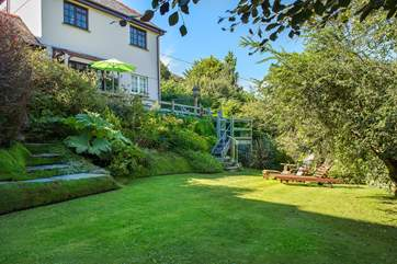 Lowarth, the ground floor apartment enjoys views over the garden