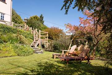 The garden is delightful all year round and the ideal place to chill out and relax