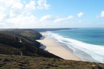 There are fabulous views from the nearby coastal footpaths, just a couple of miles away.