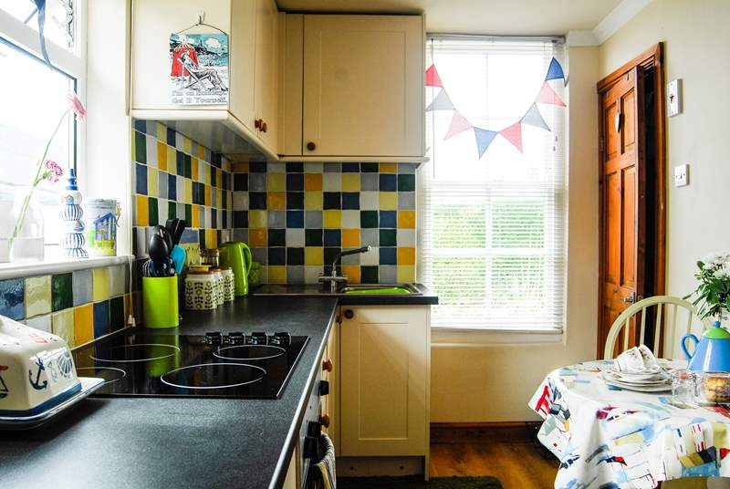 The kitchen is compact but very well-equipped.