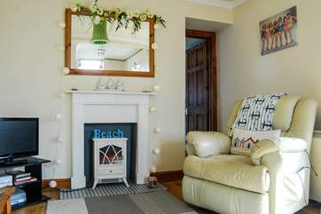 The sitting-area in this pretty little cottage.