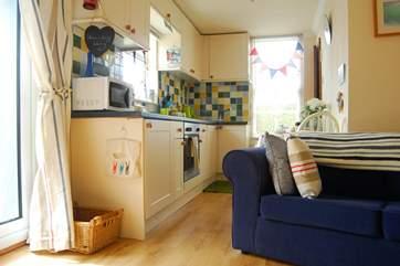 The galley kitchen.