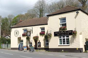 The pretty pub in Ladock is only a couple of miles away.