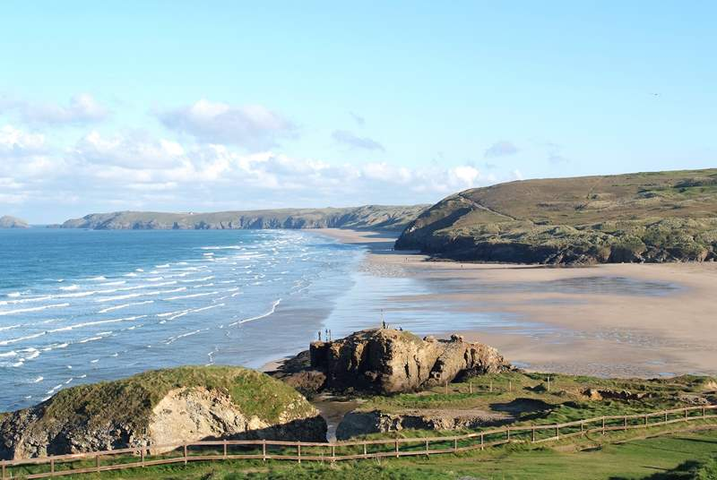 The wonderful sands at Perranporth are less than seven miles away on the north coast.