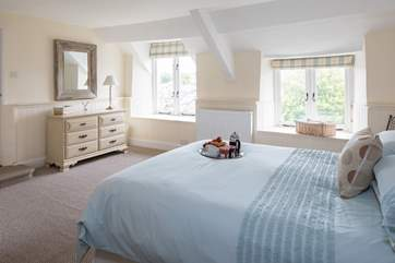 The master bedroom is super spacious, and is topped off with a shower en-suite.