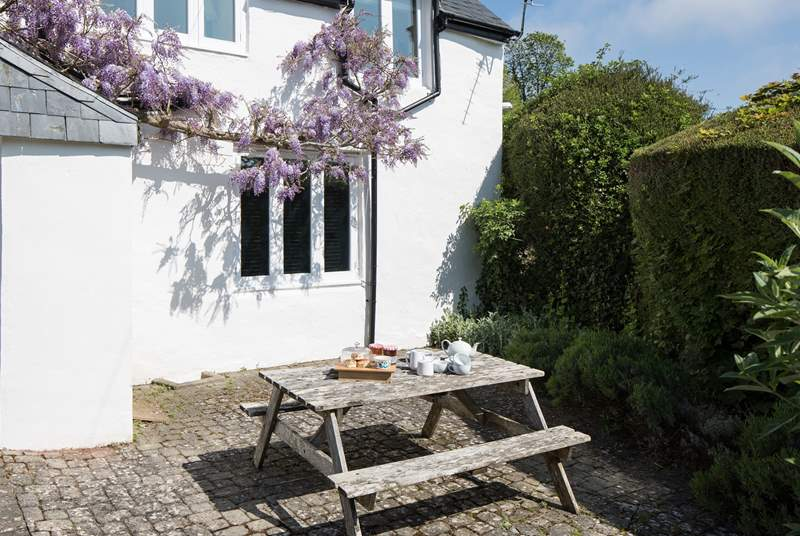 Dining al-fresco on your private patio sun-trap is a must.