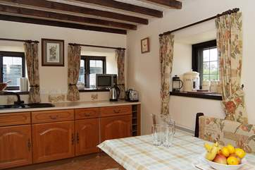 The kitchen/diner is friendly and sociable and equipped with all you will need for your holiday.