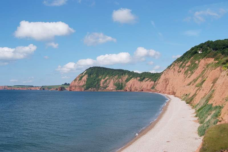 The east Devon coast is  beautiful and unspoilt - the famous Jurassic coastline starts at Budleigh Salterton and runs all the way along the Dorset coast too.