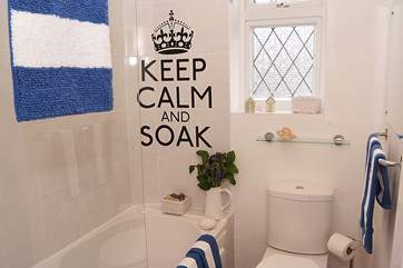 A cheerful finishing touch in the bathroom, complete with a heated towel rail.