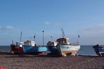 The fishing boats pulled up on the beach are a lovely sight - you can buy fish straight from the sea in the little fish stall.