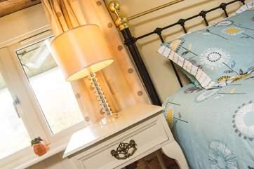 Pretty bedside lamps.