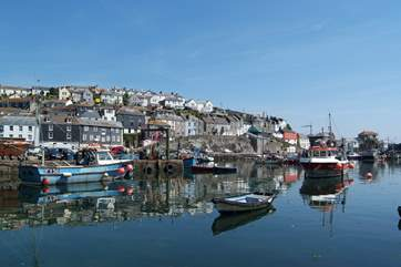 Nearby Mevagissey is a quintessentially pretty fishing harbour.
