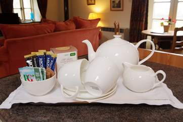 A wecoming tea tray will greet you on arrival.