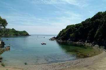 Lovely Readymoney Cove in Fowey is popular with swimmers.
