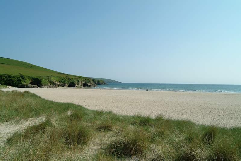 The sands and dunes at Par, less than five miles from Demesnes Mill.