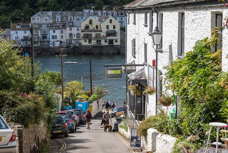 Catch the ferry from Fowey to Polruan.