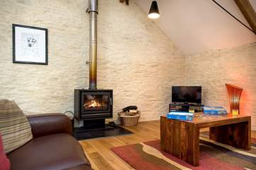 The toasty woodburner makes this an ideal retreat all year round