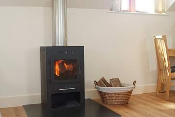 The wood-burner will keep you toasty warm whatever the weather.