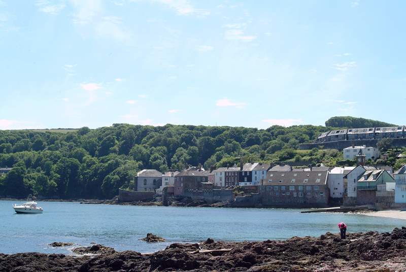 Looking towards Cawsand from the twin village of Kingsand.
