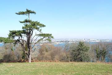 Mount Edgcumbe Country Park has lovely walks, some overlooking Plymouth Sound.