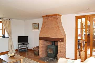 There is a welcoming wood-burner in the sitting-room.