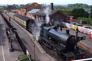 The West Somerset Steam Railway sets off from the next village just a five minute drive away.
