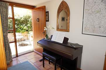 There is even a lovely piano  for the musicians amongst you to enjoy.