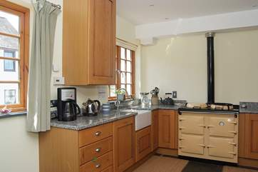 The kitchen-area is fully equipped, with a warming Heritage cooker.