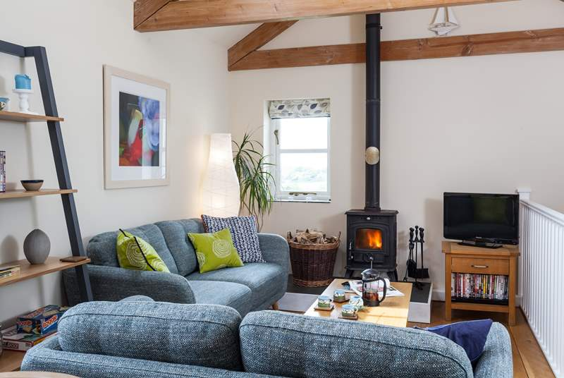 The living room has lovely far reaching countryside views.