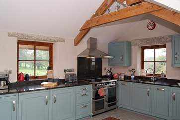 The beautifully fitted kitchen.